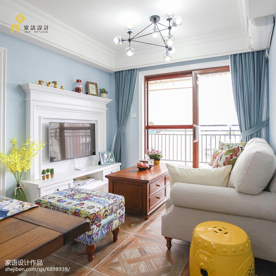 精美面积74平美式二居装修实景图片欣赏