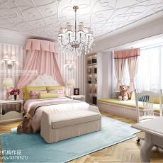 热门127平米美式别墅卧室装修图