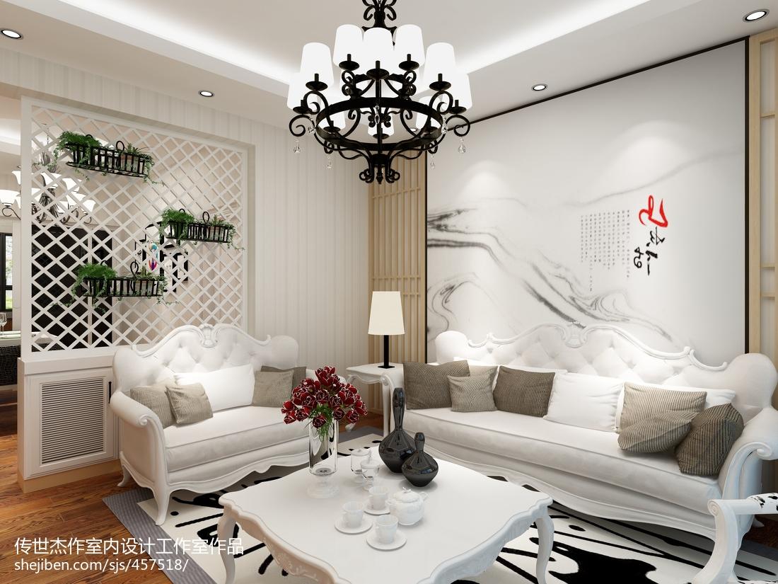 88平米二居客厅现代效果图片大全