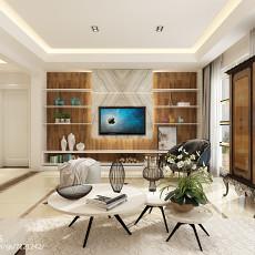 精选面积116平复式客厅简约装修效果图片