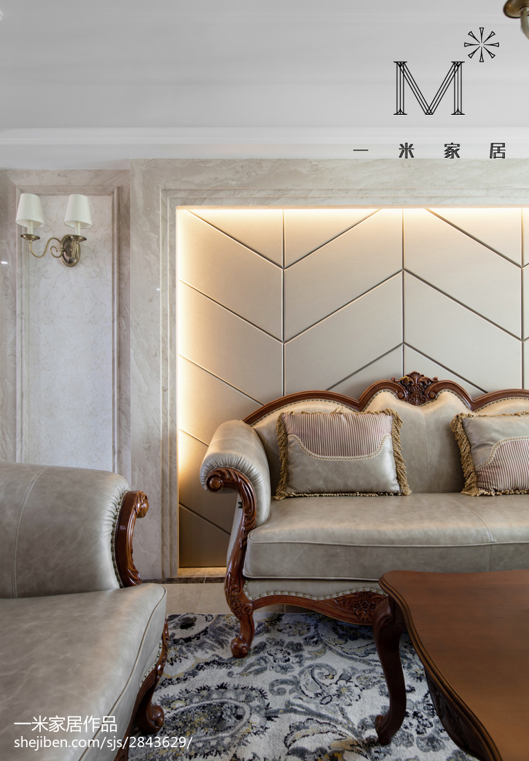 精选面积79平欧式二居客厅实景图片欣赏