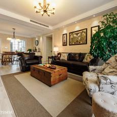 90平米三居客厅美式欣赏图