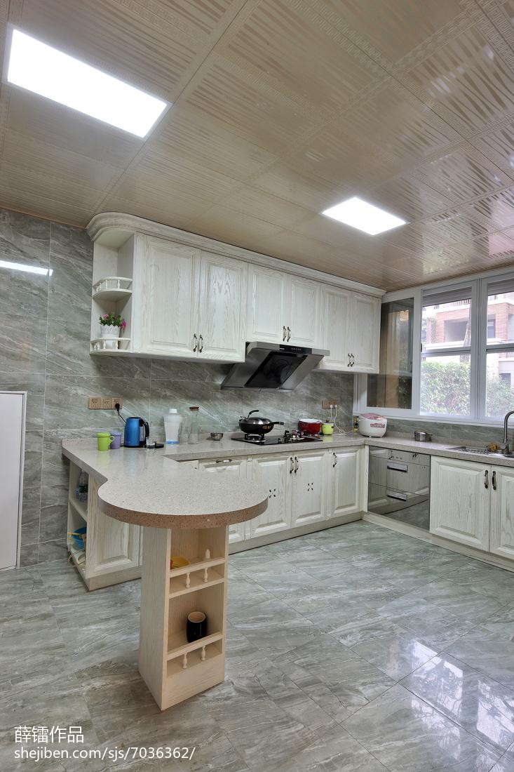 114平米简约别墅厨房效果图片欣赏