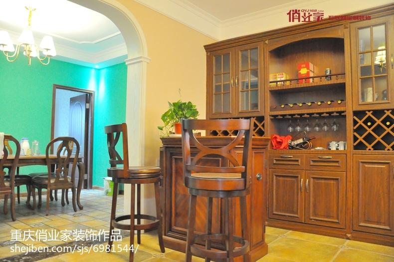 四居室客餐厅一体装修效果图