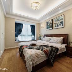 2018精选90平米三居卧室美式欣赏图片