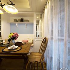 精美117平米美式复式餐厅装饰图片