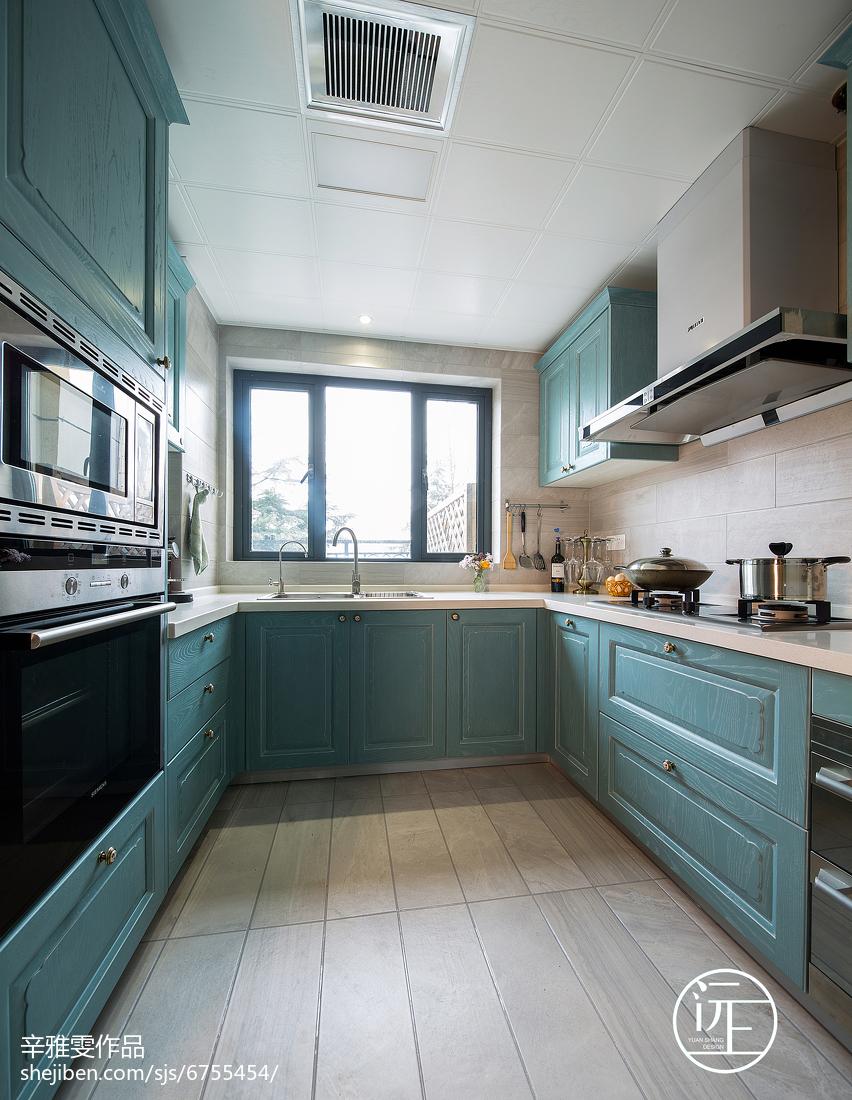 热门面积135平复式厨房美式装修实景图片大全