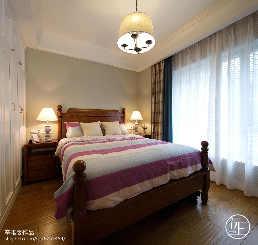 精美面积131平复式卧室美式装修实景图片