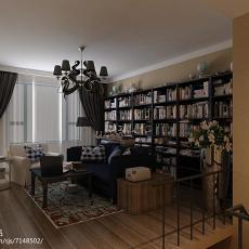 简约复式书房装修图