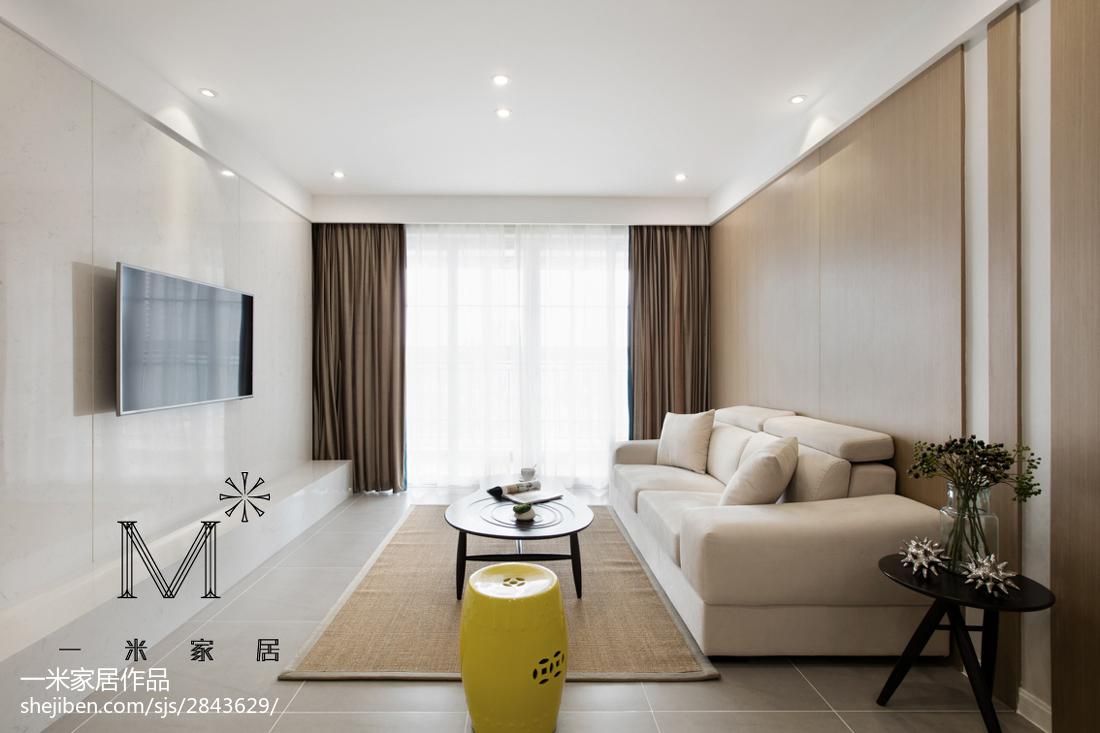 热门72平米现代小户型客厅装修图