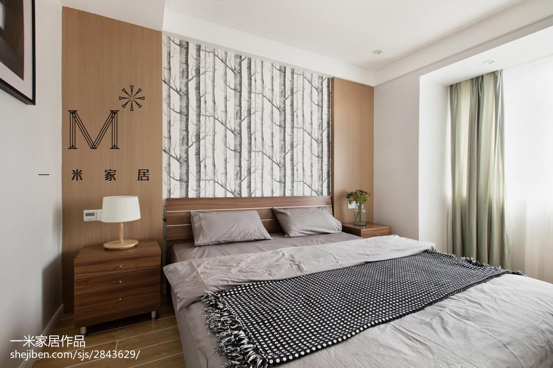 热门76平米现代小户型卧室装修效果图