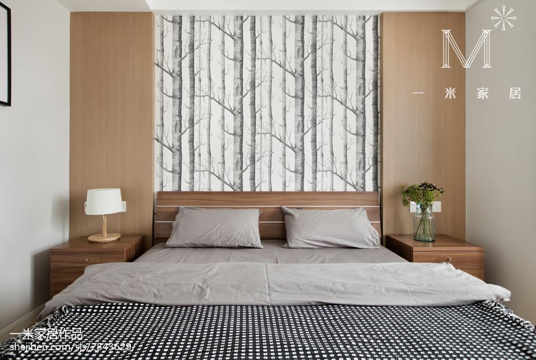 精选75平米现代小户型卧室效果图片