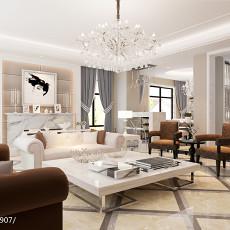 热门大小127平别墅客厅现代效果图片