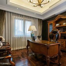 精美120平米欧式别墅书房装饰图