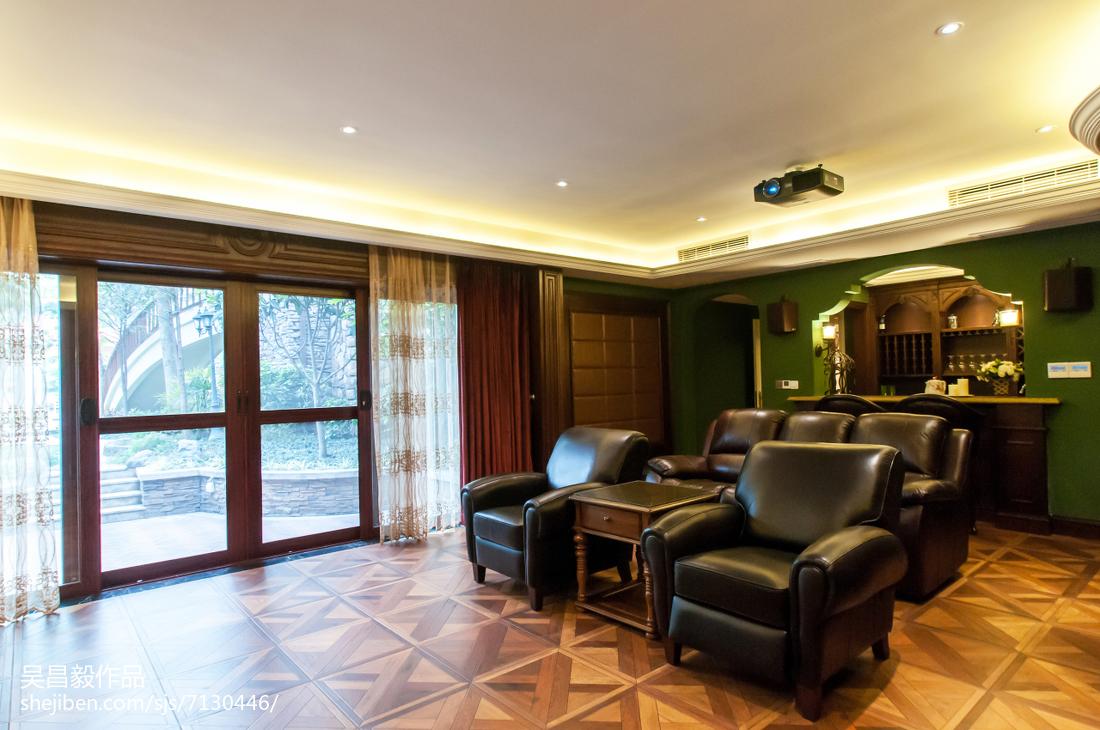 家装欧式风格视听室装修效果图