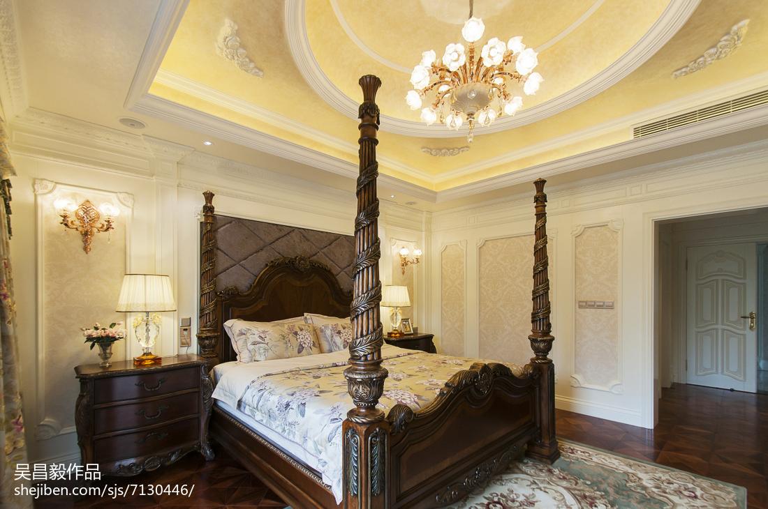 面积135平别墅卧室欧式装修设计效果图片欣赏
