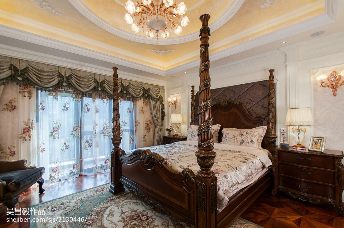 精美128平米欧式别墅卧室欣赏图