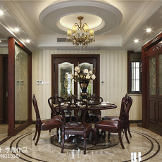 质朴450平美式别墅餐厅图片欣赏