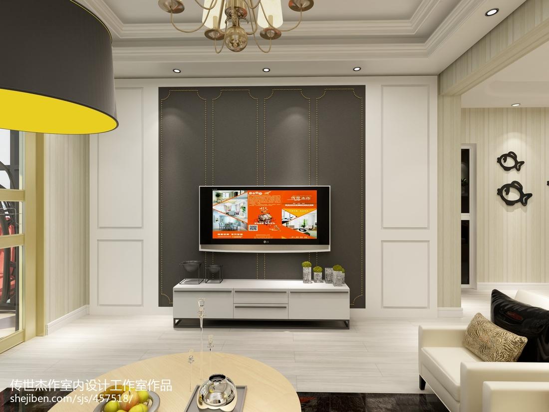 现代简约原木家居二居室装修案例