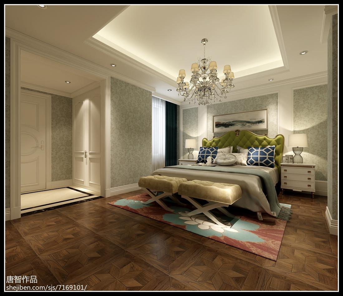 现代休闲风卧室装修效果图