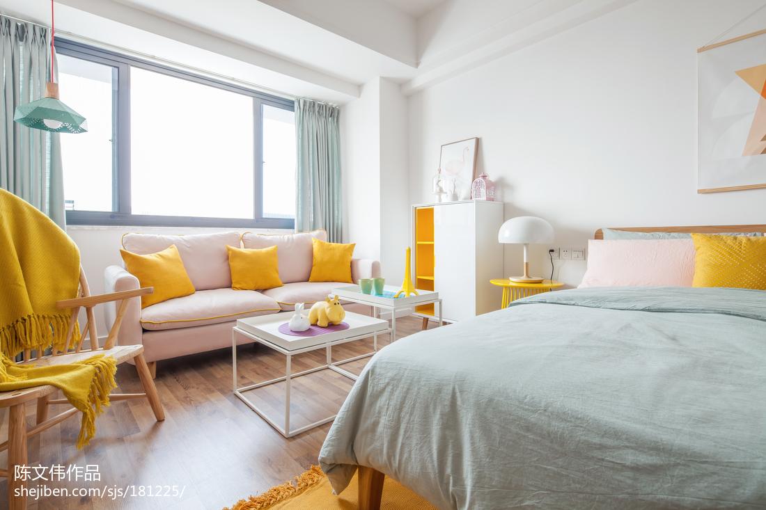 精美面积81平小户型卧室北欧实景图片大全