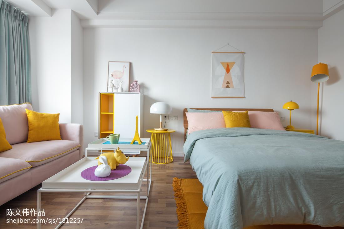 大气44平北欧小户型卧室装修美图