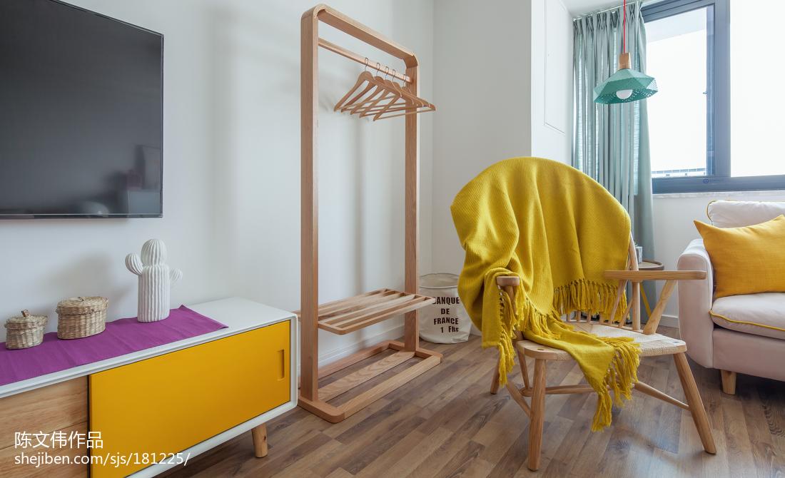 热门面积72平小户型卧室北欧效果图片