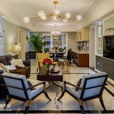 热门142平米四居客厅美式欣赏图片大全