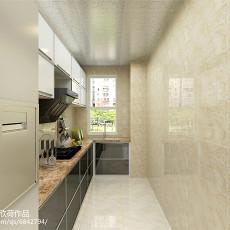 精选面积75平现代二居厨房装修欣赏图片大全