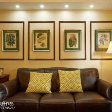 精美72平美式三居客厅装饰图片