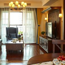 2018102平方三居客厅美式装修图片欣赏