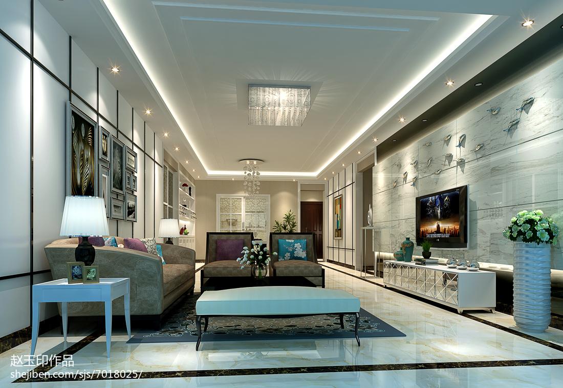 豪华时尚新古典风格四居室装修效果图