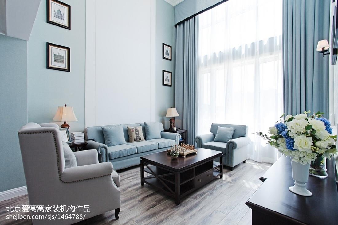 面积101平欧式三居客厅装修实景图片大全