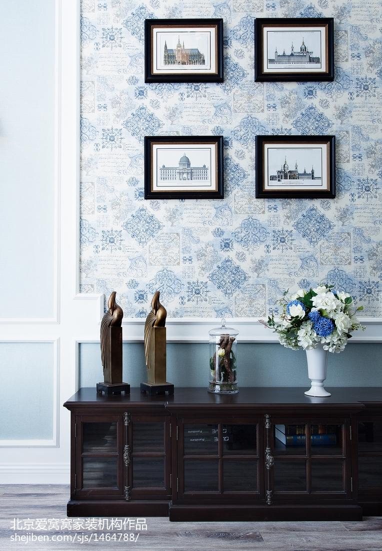 2018面积99平欧式三居客厅装修设计效果图