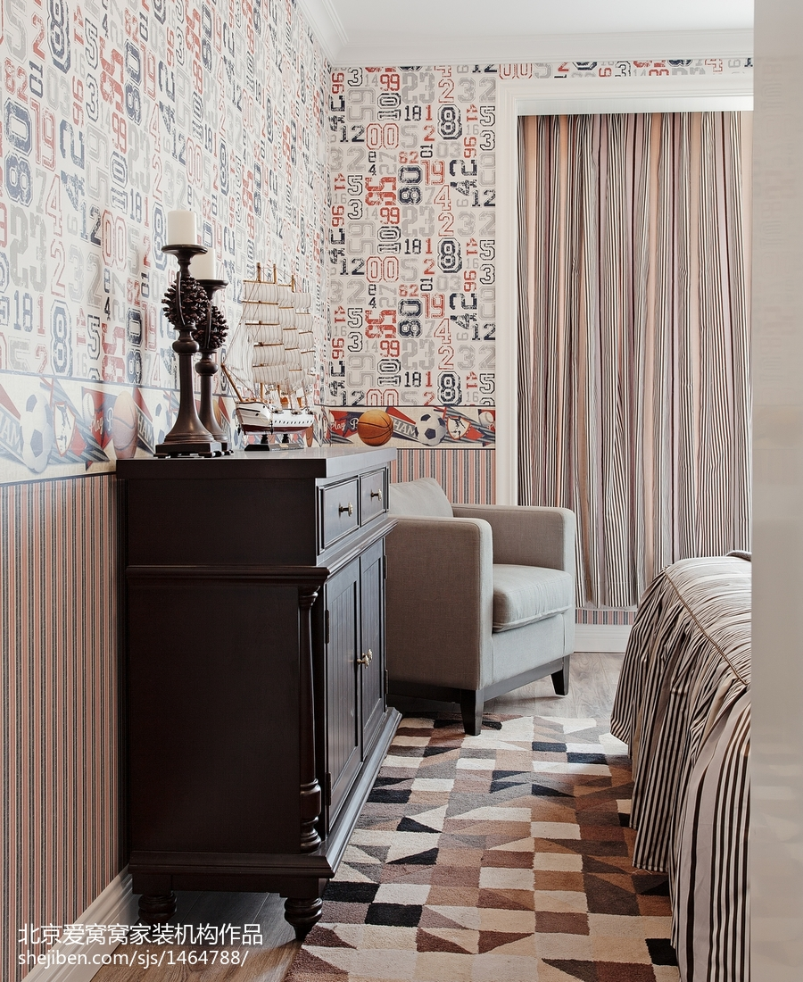 精选95平米三居卧室欧式装饰图片欣赏