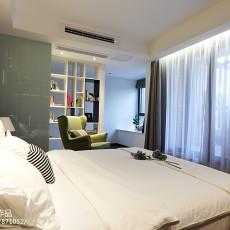 简洁82平现代二居卧室实景图片