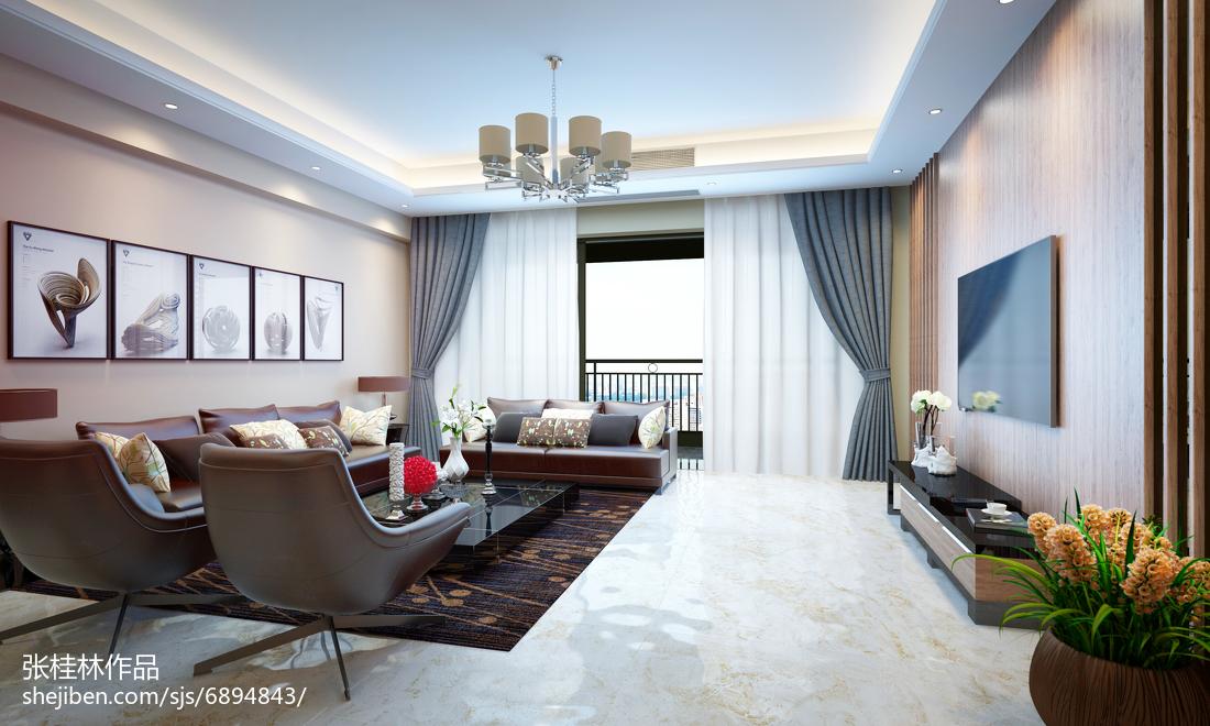 热门面积140平现代四居客厅装修设计效果图片大全