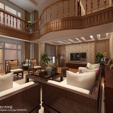 精选东南亚复式客厅装修设计效果图