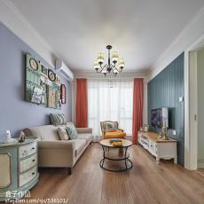 热门90平方二居客厅混搭装修实景图片大全
