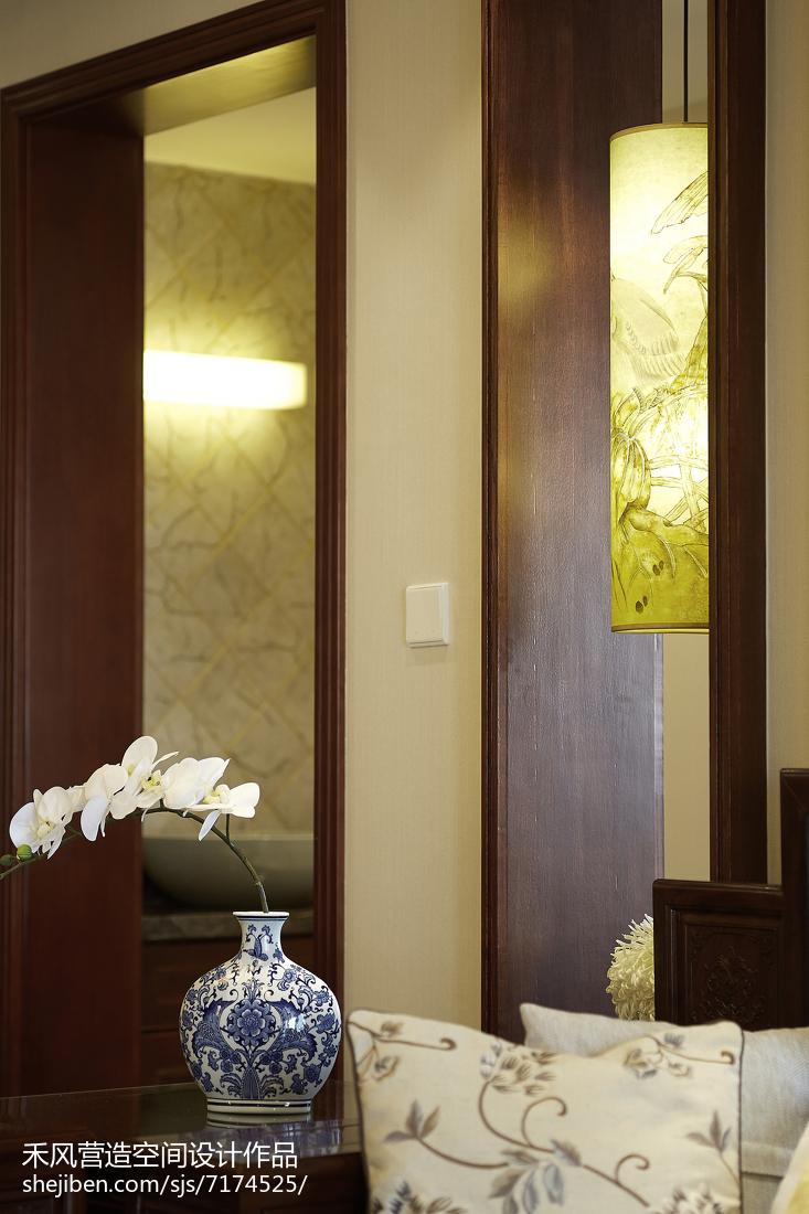 热门面积100平中式三居过道装修设计效果图片