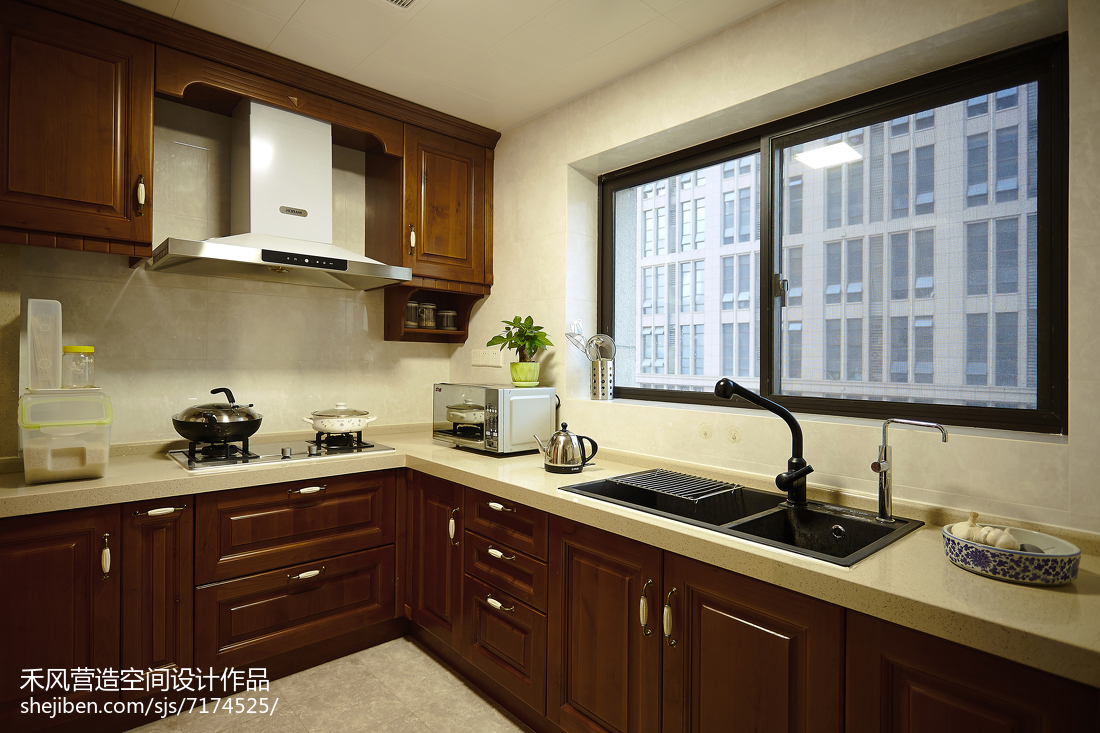 家居美式風格廚房裝修案例