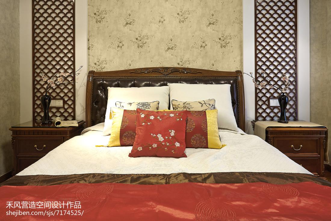 大小97平中式三居卧室设计效果图