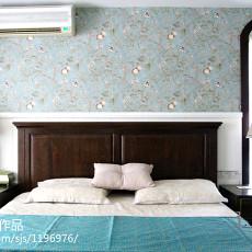 精致102平美式三居卧室装饰图