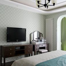 精美面积91平美式三居卧室装修效果图片欣赏