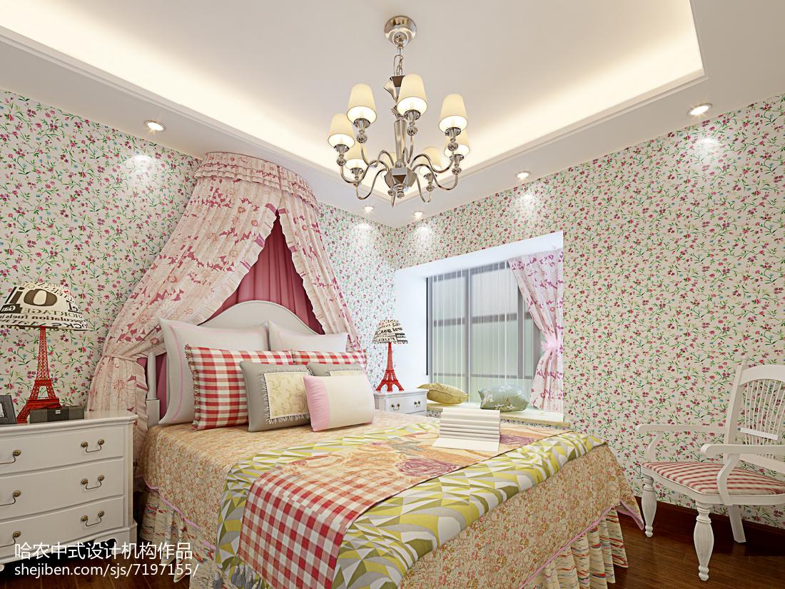 最新110平米四居卧室中式装修效果图片大全