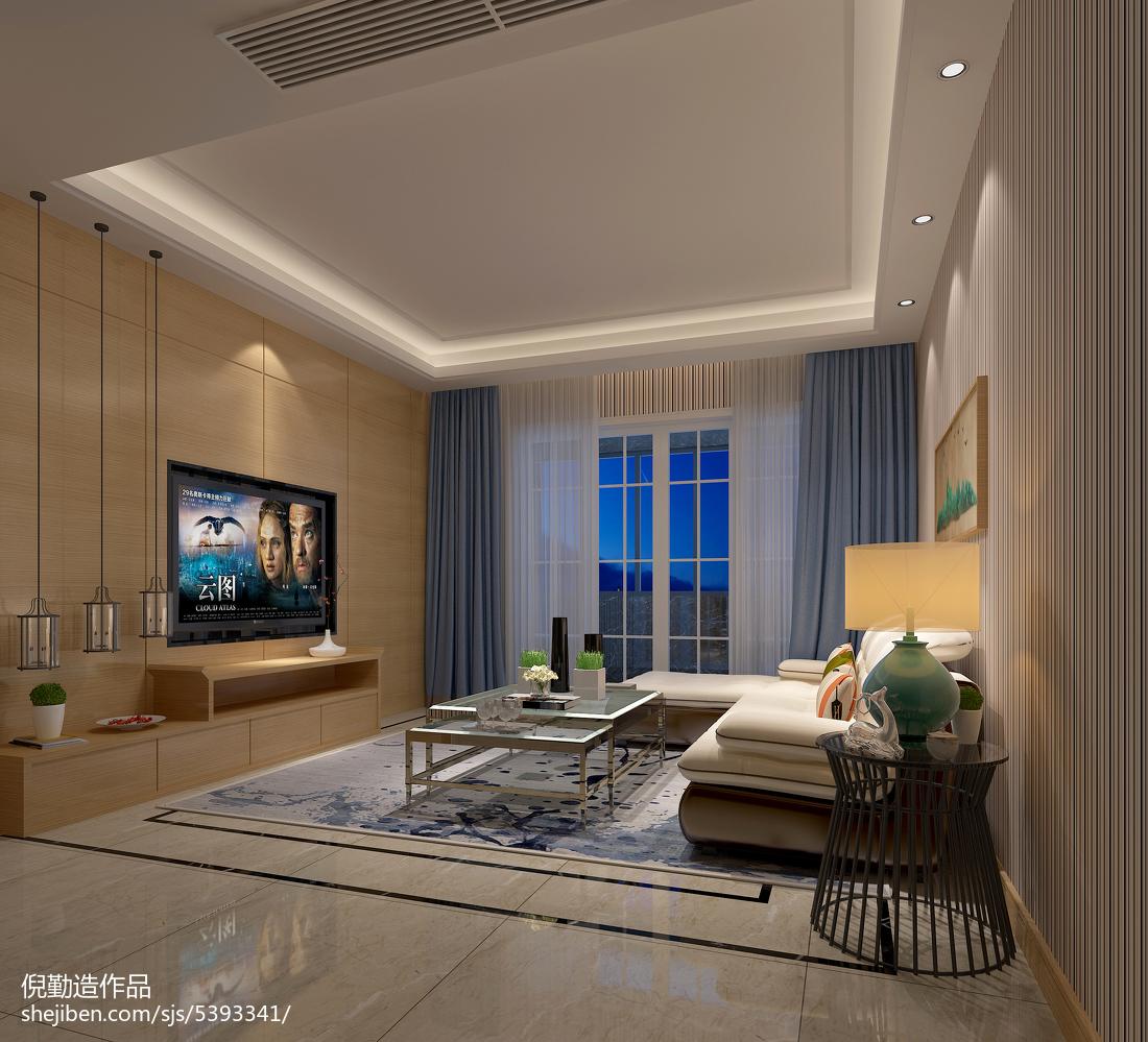 简约三居客厅实景图片