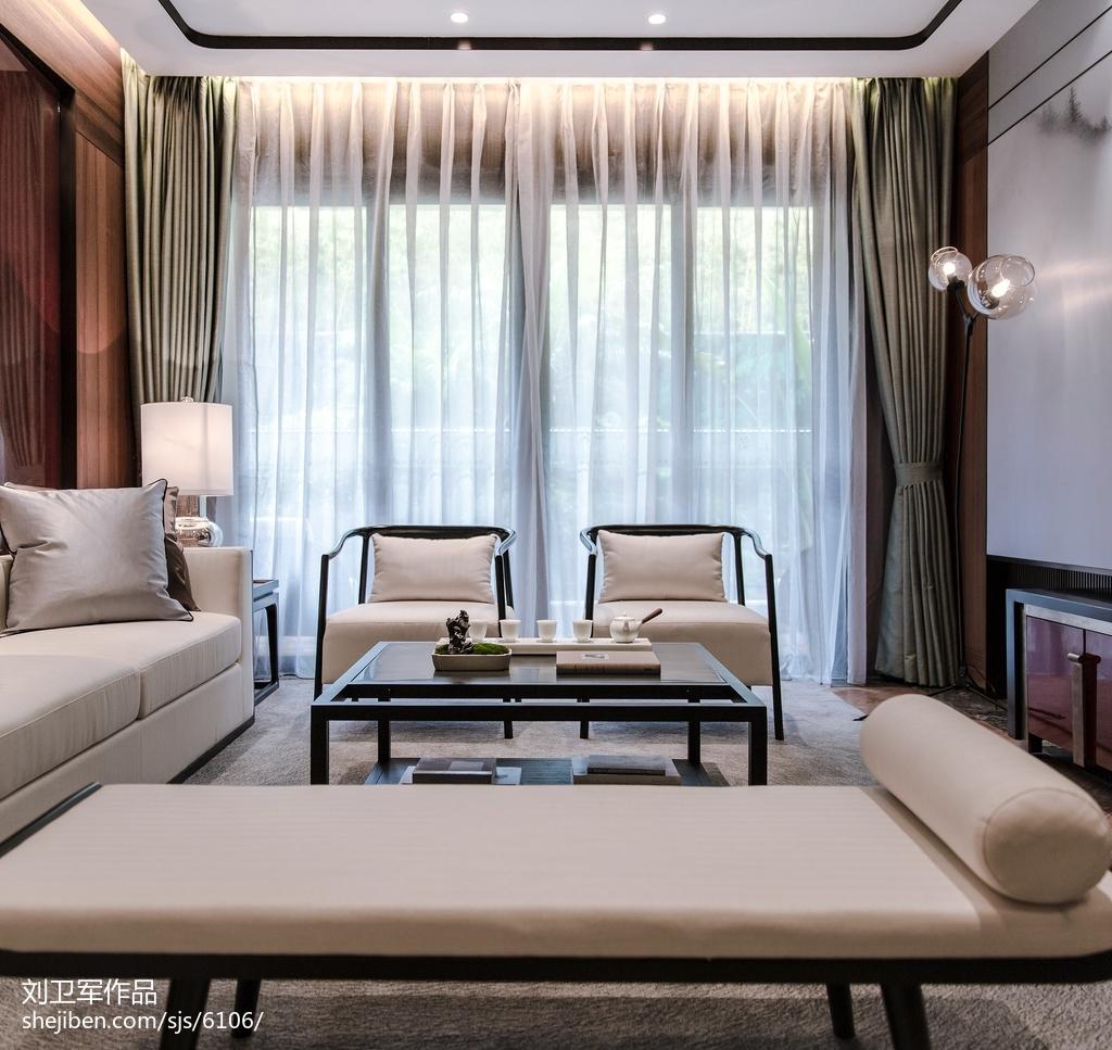 样板房中式风格客厅设计