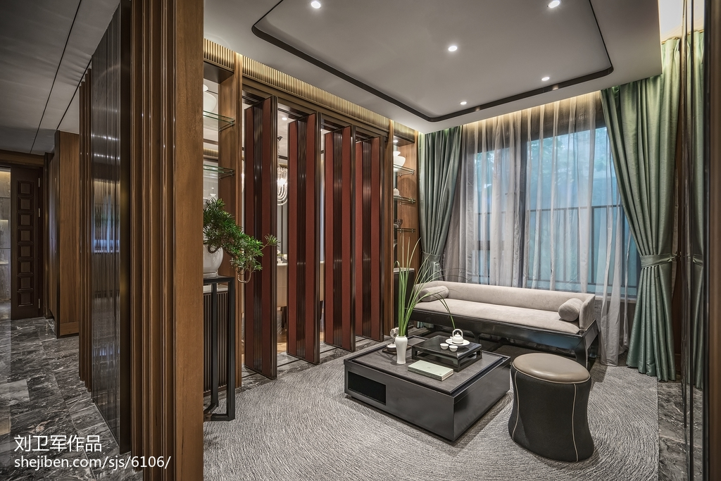 中式格调休闲区设计