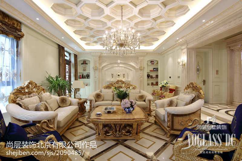 精美114平米新古典别墅客厅装饰图