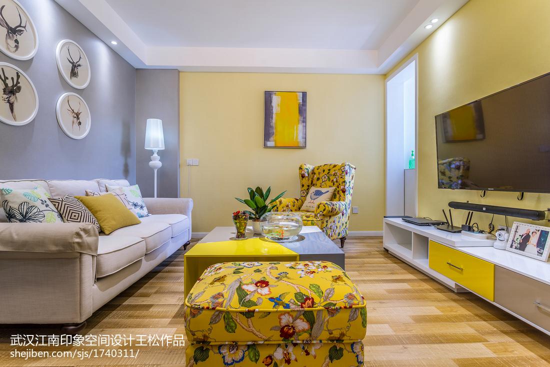 精美87平混搭二居装修设计效果图片